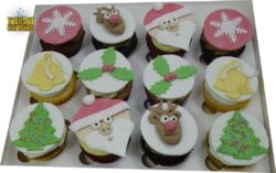 12 Christmas Cupcakes with Gluten Free Option
