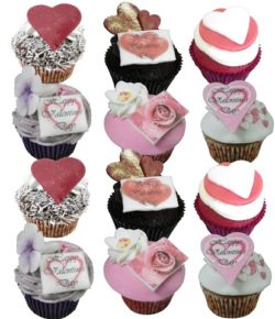 12 Valentine Cupcakes (without lace wrappers)