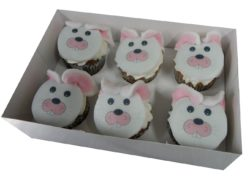 6 Easter Bunny Cupcakes