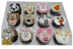 Animal Faces Cupcakes