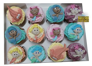 Bubble Guppies 3D Cupcakes