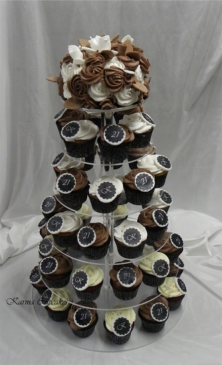 21st Birthday Cupcake Tower