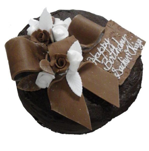 Double layer chocolate Vegan cake (*gluten friendly). Please click here for product details.