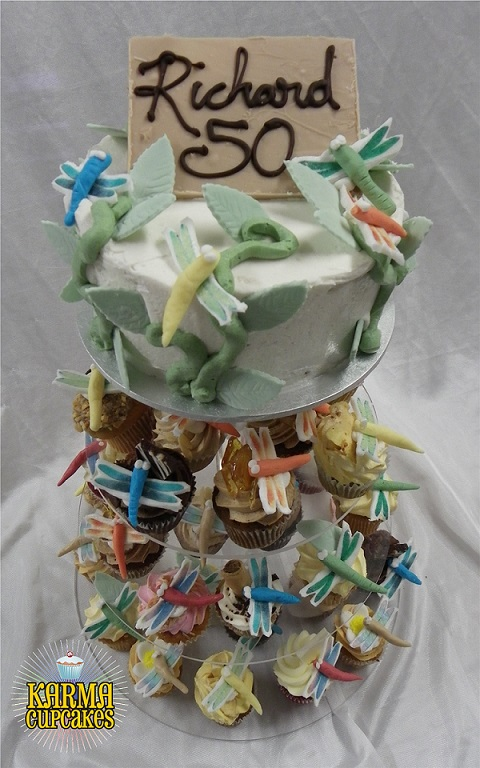 Dragonfly Cupcake Tower