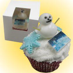 Individual Coconut (GF) Snowman Cupcake