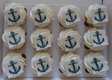 Mini Cupcakes With Anchor Logo