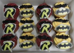 Mini Batman and Robin Cupcakes