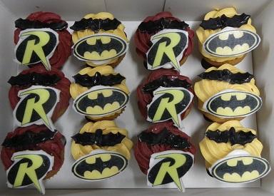 Mini Batman and Robin Cupcakes