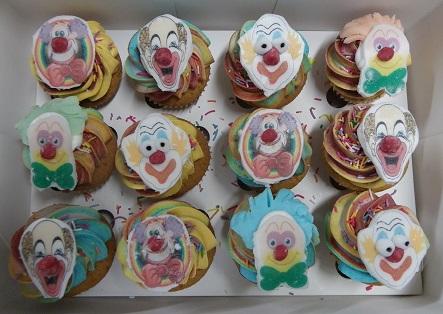 Mini Clown Cupcakes