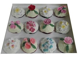 Mixed Floral Cupcakes- Design 1