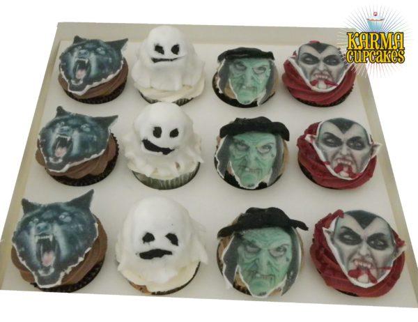 Halloween Monster Cupcakes