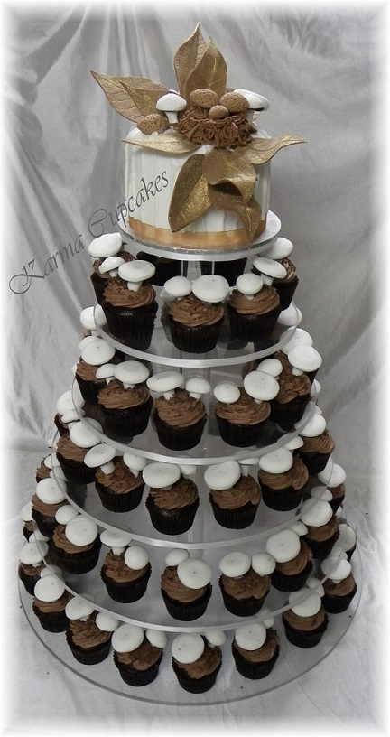 Forest Mushroom wedding cake