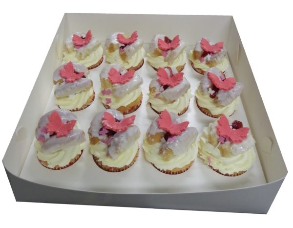 Old Fashioned Fresh Cream & Strawberry Jam Butterfly cakes