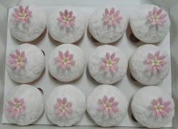 Embossed Flower Cupcakes