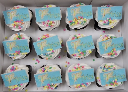 Star Sign Personalised Cupcakes