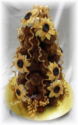 Sunflower Croquembouche