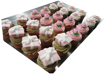 Present, Flower and Heart Cupcake Selection