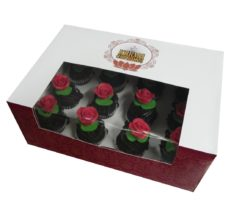 1 Dozen Red Rose High Tea Cupcakes