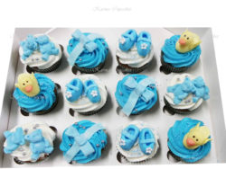 Baby Shower Cupcakes - Blue or Pink (duck and booties)