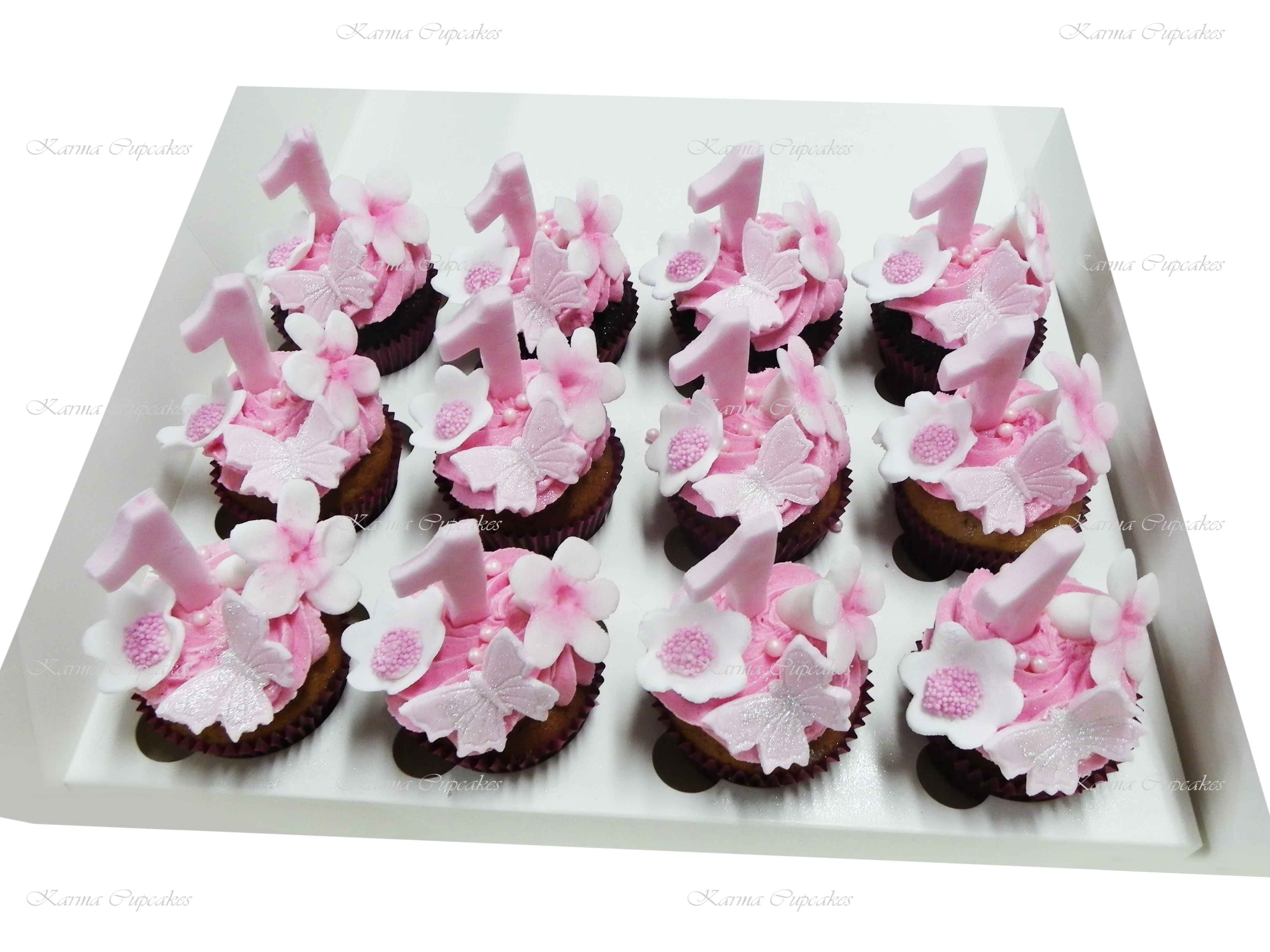 Magnificent Babys First Birthday Cupcakes For Baby Showers And Parties Funny Birthday Cards Online Alyptdamsfinfo