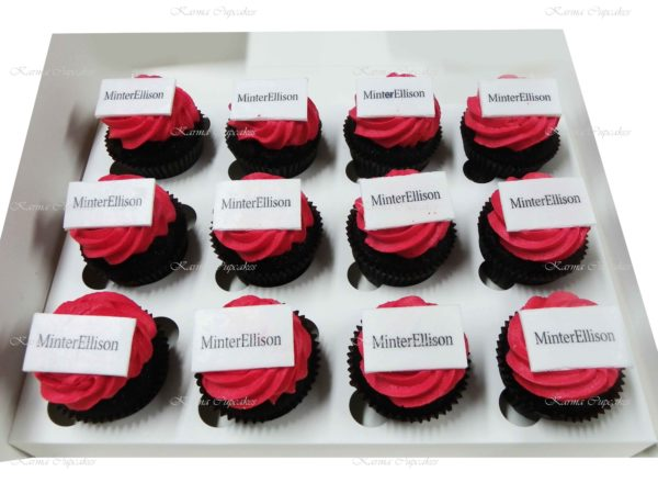 Corporate Edible Logo/ Image Cupcakes (chocolate & vanilla only)