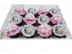 Birthday Cupcakes with Edible Photo and Handmade Presents