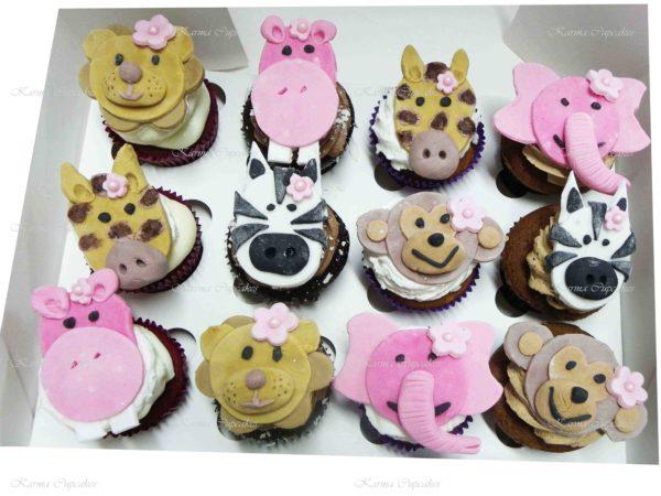 Animal Faces Handmade Cupcakes