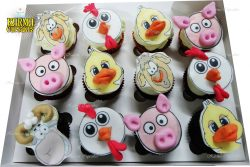Farm Animal Cupcakes with 3D Features