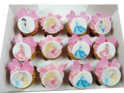 Disney Princess Themed Cupcakes