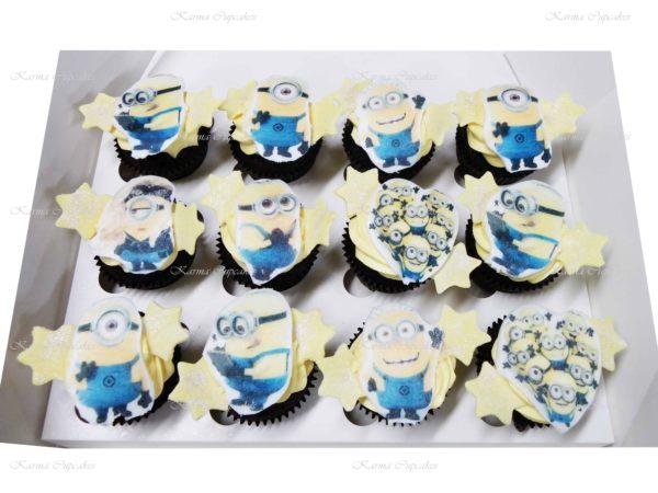 Minion Edible Image Cupcakes