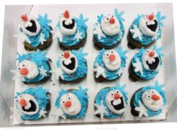 Frozen Olaf Snowman Cupcakes