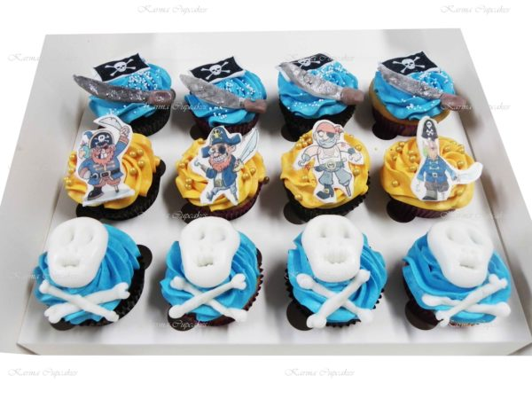 Pirate Cupcakes with Edible Images