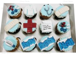 Medical Birthday Cupcakes