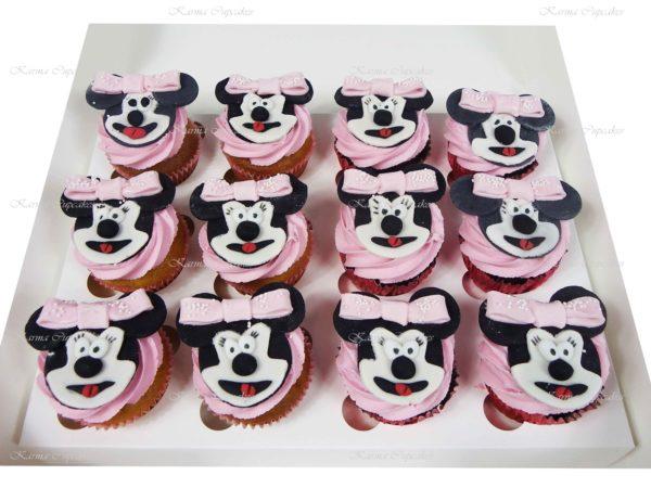 Minnie Mouse Handmade Themed Cupcakes