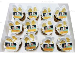 Anniversary Cupcakes with Edible Photos
