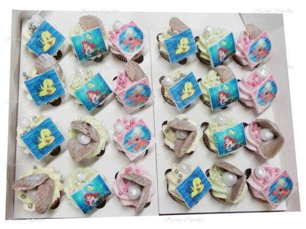Little Mermaid Themed Mini Cupcakes