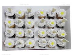 High Tea Flower Cupcakes with Shards of Chocolate - Choose your colour