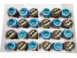 Batman Mini Cupcakes with Edible Images