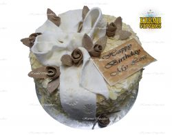 Coffee and Almond Birthday Cake with Edible Message