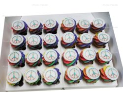 Rainbow Mini Cupcakes with Edible Image - Min 24