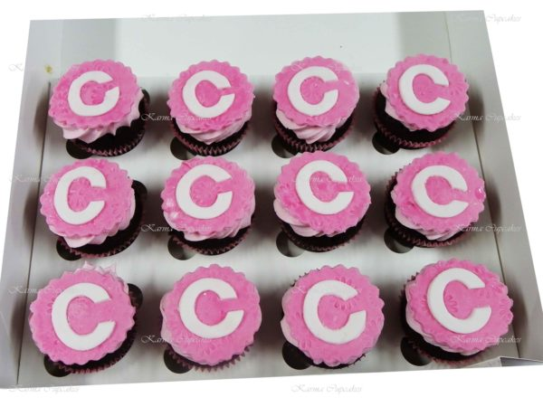 Initial Cupcakes - Choose your colour