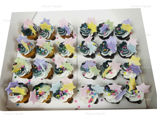 Rainbow Mini Cupcakes with Stars- Min 24
