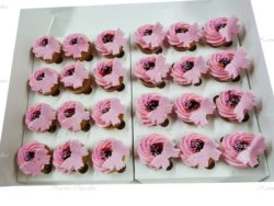 Pink Butterflies with Jam High Tea Cupcakes
