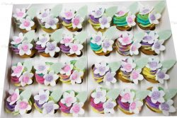 Rainbow Flowers High Tea Cupcakes