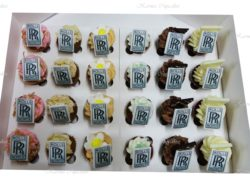 Square Logo on Gourmet Mini Cupcakes - Min 24