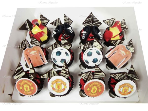 Sports Cupcakes with Handmade Sports Gear - choose your team