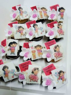Dora the Explorer Mini Cupcakes