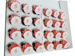 Good Luck Rose Swirl High Tea Cupcakes