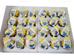 Minion Edible Image Mini Cupcakes