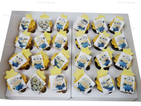 Minion Edible Image Mini Cupcakes
